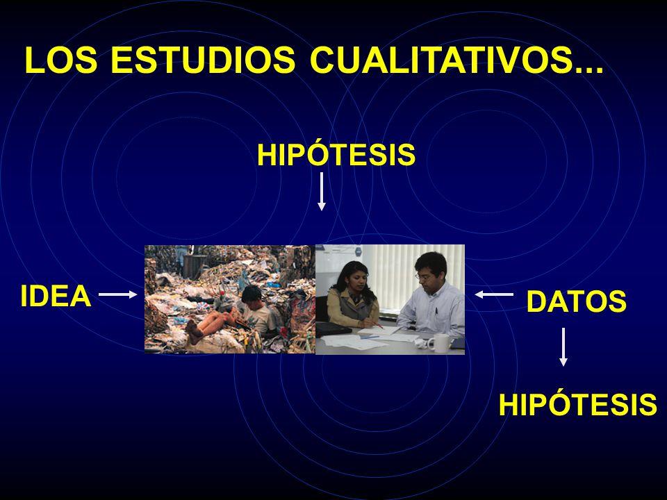 LOS ESTUDIOS CUALITATIVOS...
