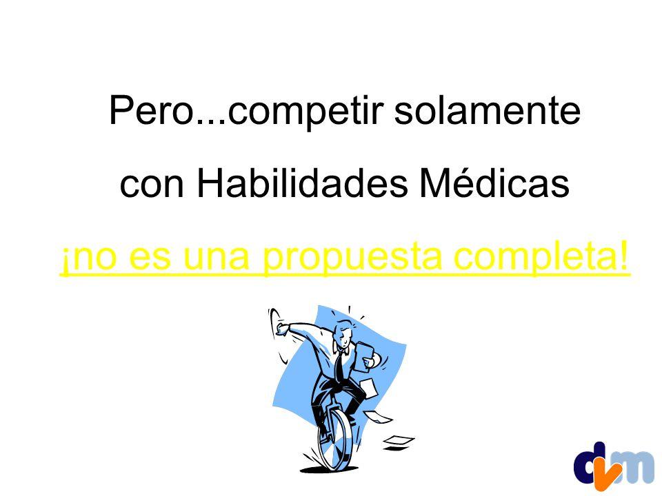 Pero...competir solamente con Habilidades Médicas