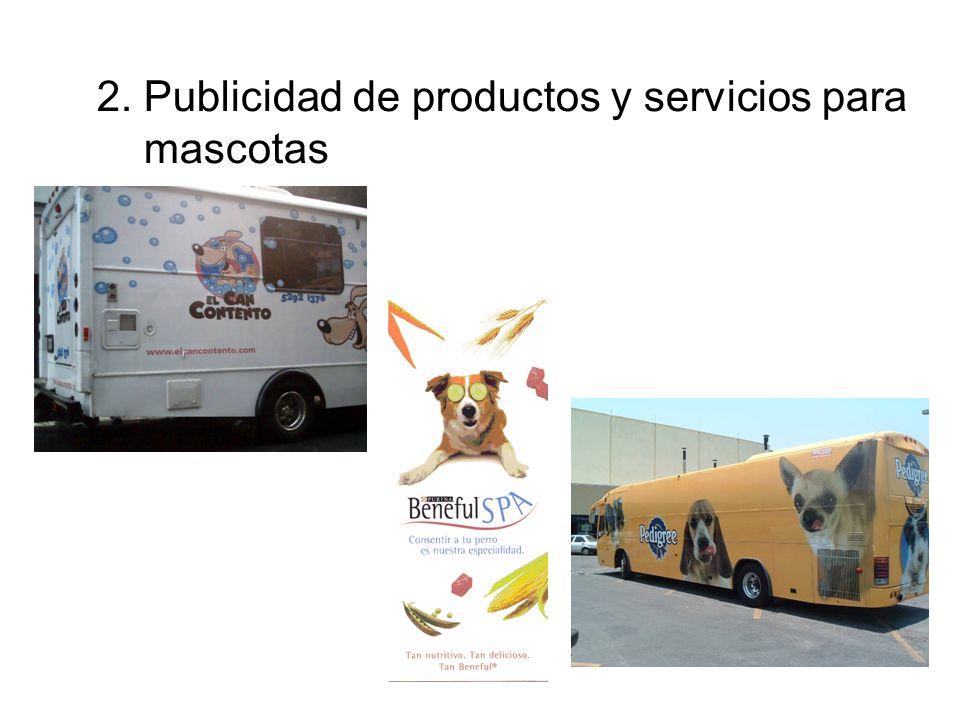 2. Publicidad de productos y servicios para