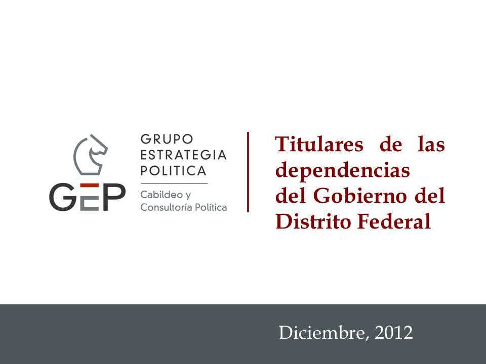Titulares de las dependencias del Gobierno del Distrito Federal