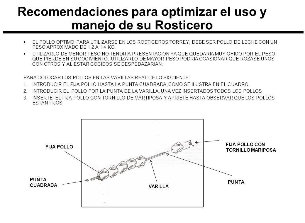 Recomendaciones para optimizar el uso y manejo de su Rosticero