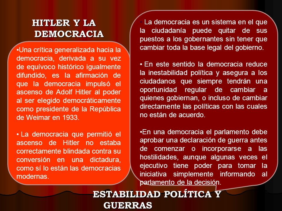 ESTABILIDAD POLÍTICA Y GUERRAS