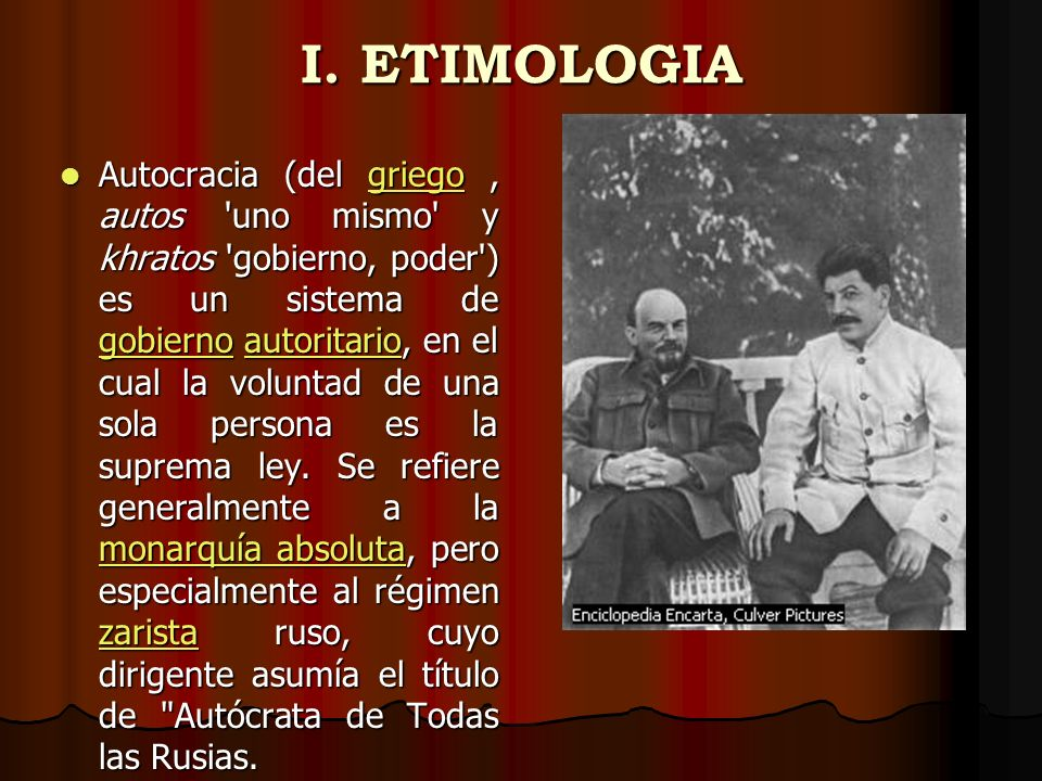 I. ETIMOLOGIA