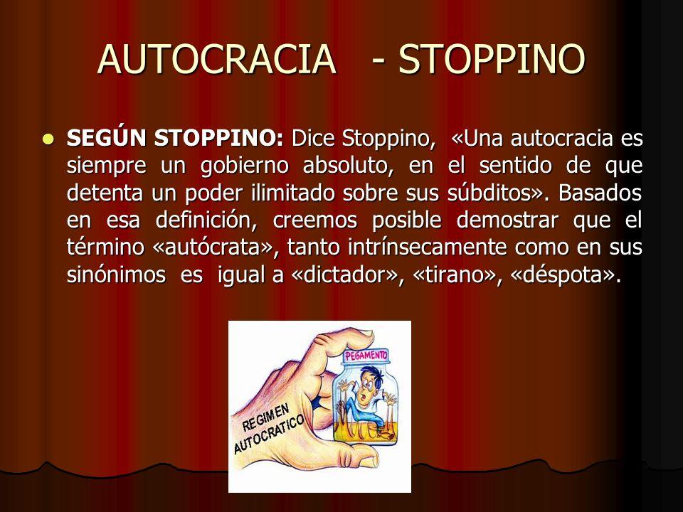 AUTOCRACIA - STOPPINO