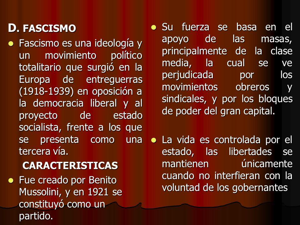 D. FASCISMO