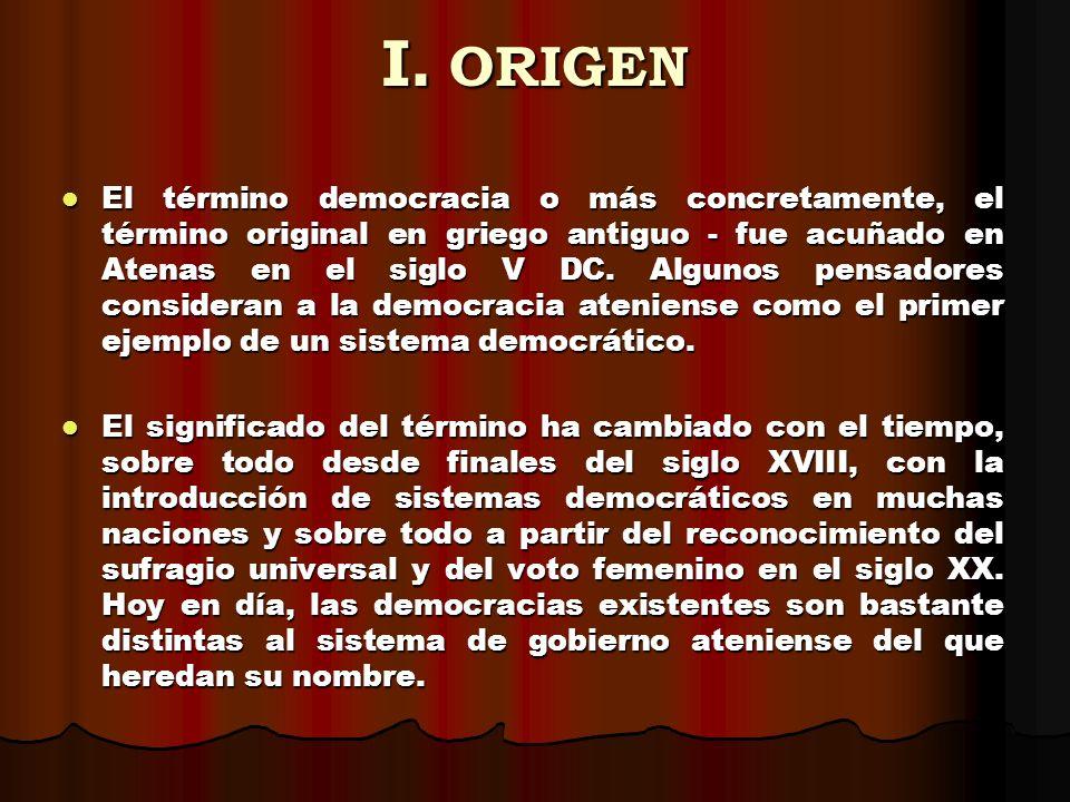 I. ORIGEN