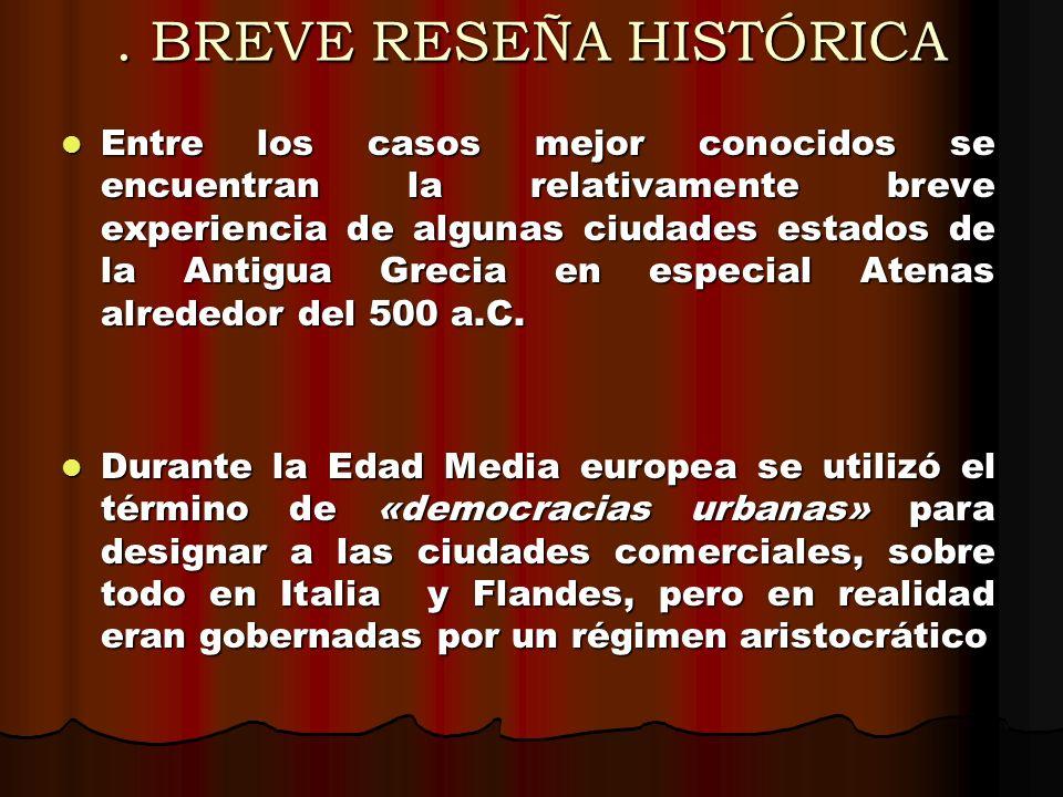 II . BREVE RESEÑA HISTÓRICA
