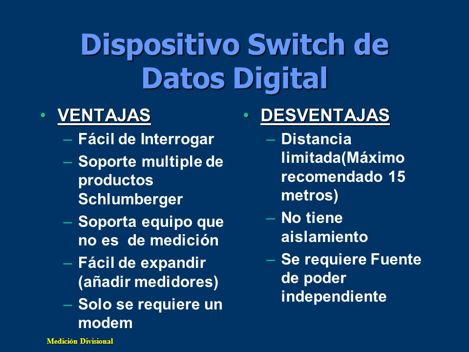 Dispositivo Switch de Datos Digital