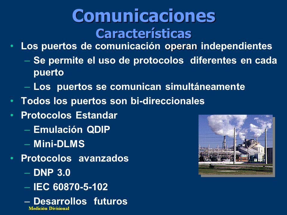 Comunicaciones Características