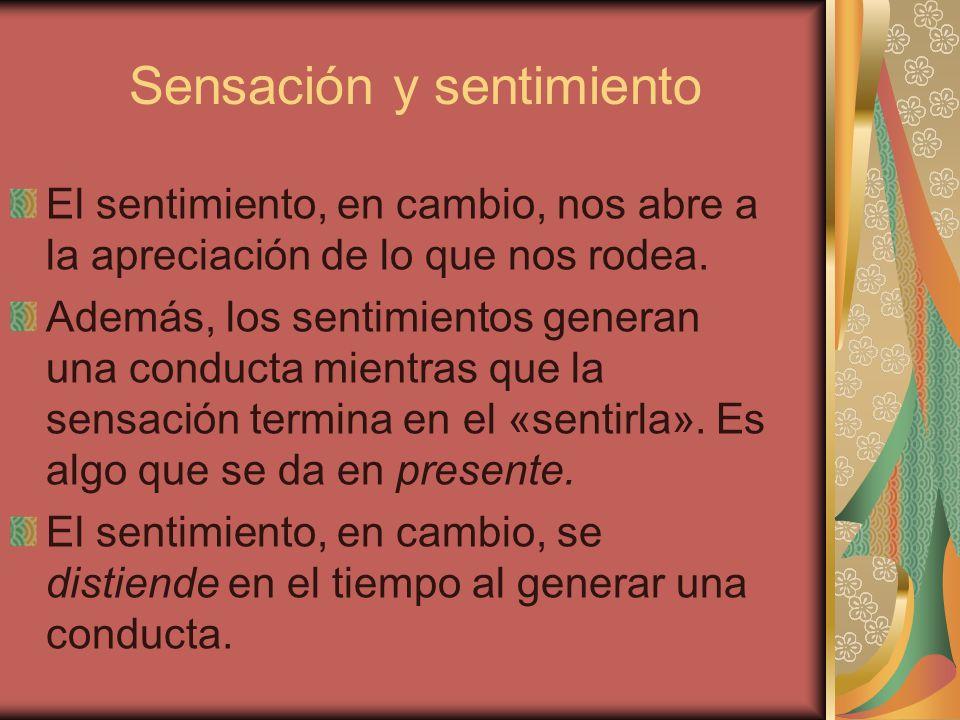 Sensación y sentimiento