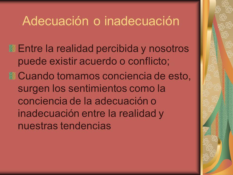 Adecuación o inadecuación