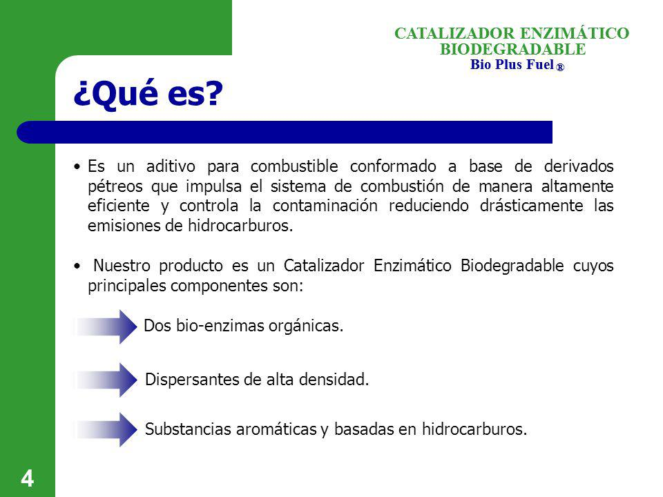 ¿Qué es CATALIZADOR ENZIMÁTICO BIODEGRADABLE