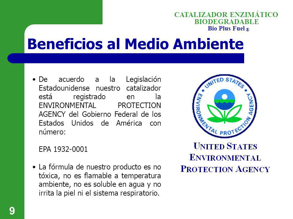 Beneficios al Medio Ambiente