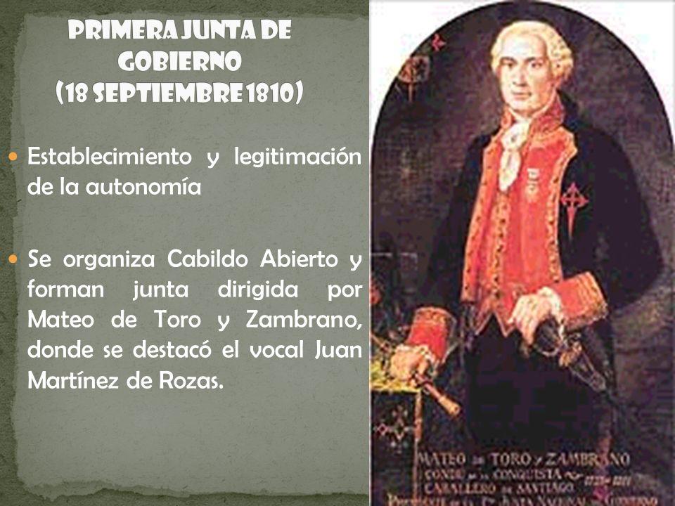 Primera Junta de Gobierno (18 Septiembre 1810)