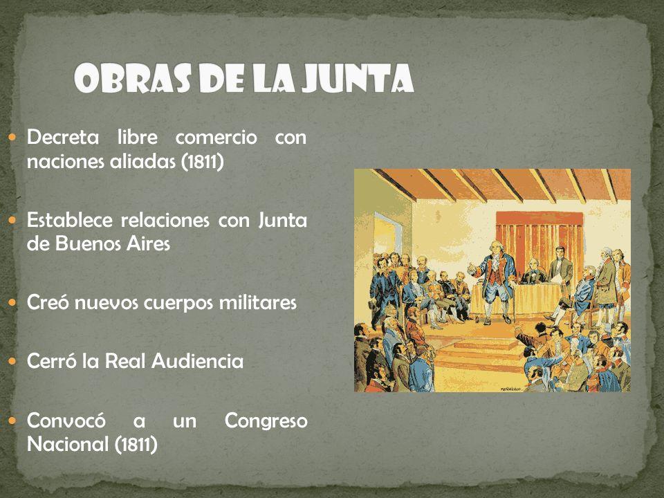 Obras de la Junta Decreta libre comercio con naciones aliadas (1811)