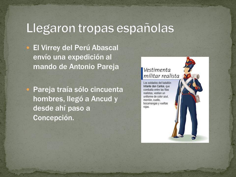 Llegaron tropas españolas