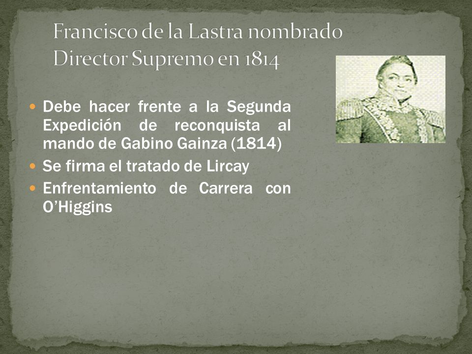 Francisco de la Lastra nombrado Director Supremo en 1814