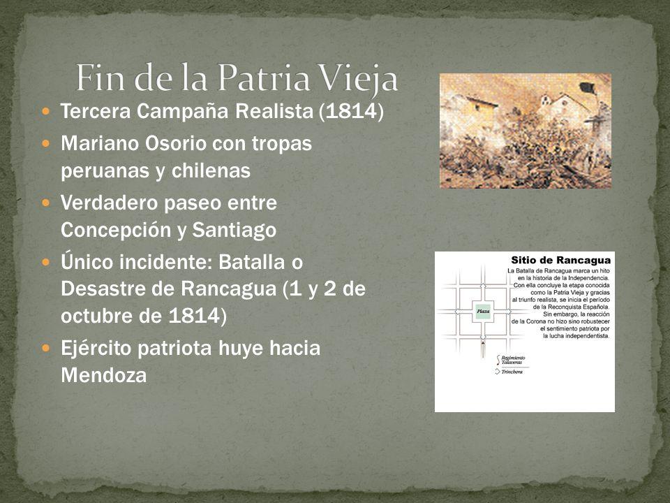 Fin de la Patria Vieja Tercera Campaña Realista (1814)