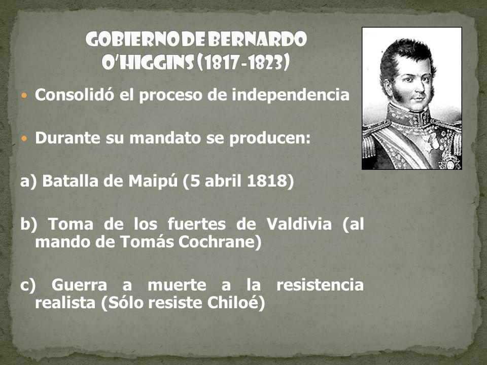 Gobierno de Bernardo O'Higgins (1817-1823)