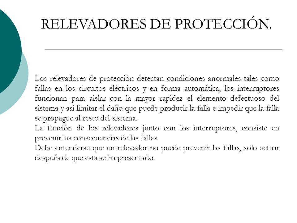 RELEVADORES DE PROTECCIÓN.