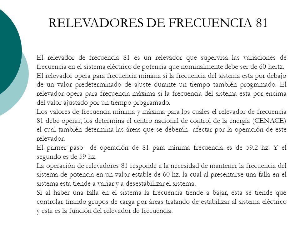 RELEVADORES DE FRECUENCIA 81