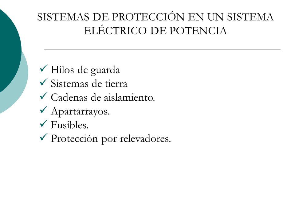 SISTEMAS DE PROTECCIÓN EN UN SISTEMA ELÉCTRICO DE POTENCIA