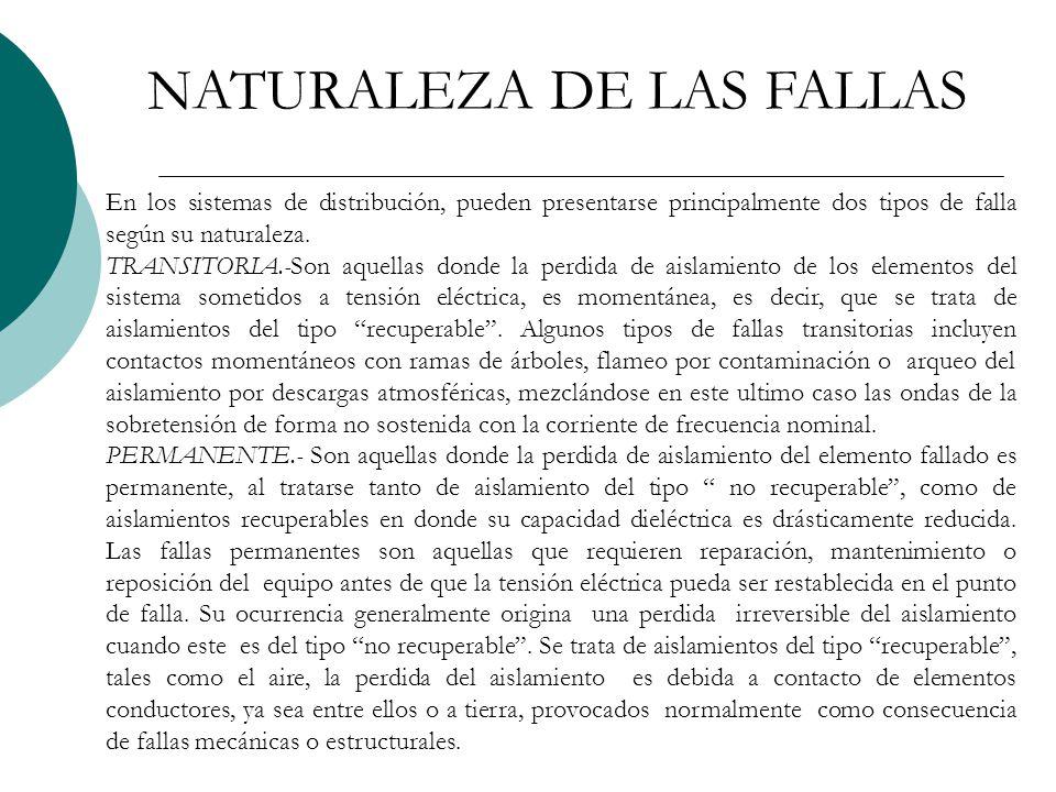 NATURALEZA DE LAS FALLAS