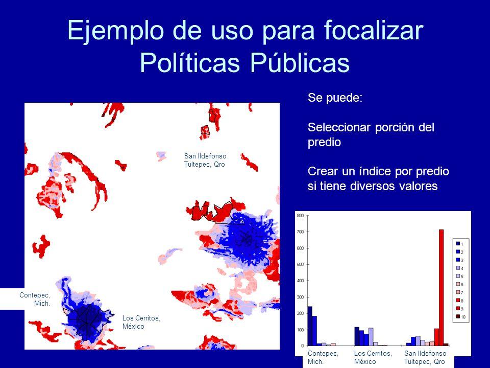 Ejemplo de uso para focalizar Políticas Públicas