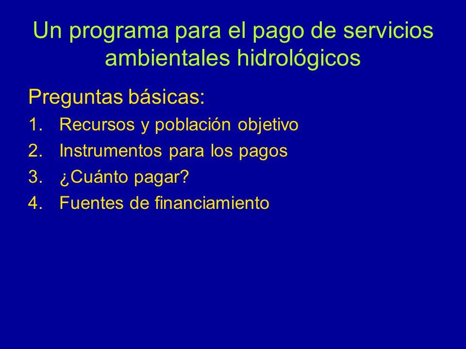 Un programa para el pago de servicios ambientales hidrológicos