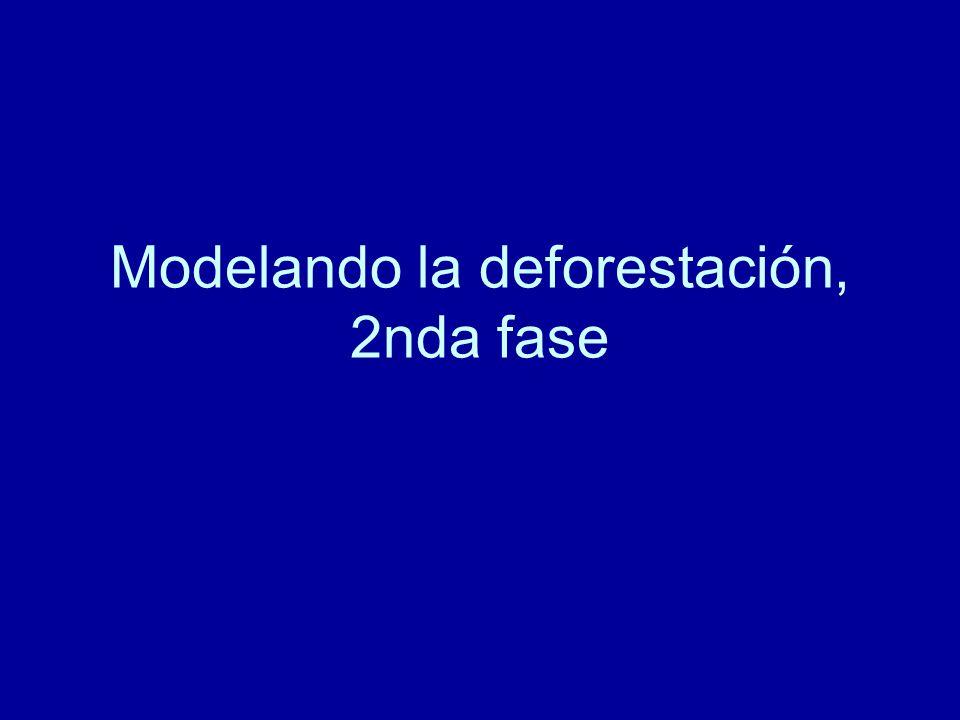 Modelando la deforestación, 2nda fase