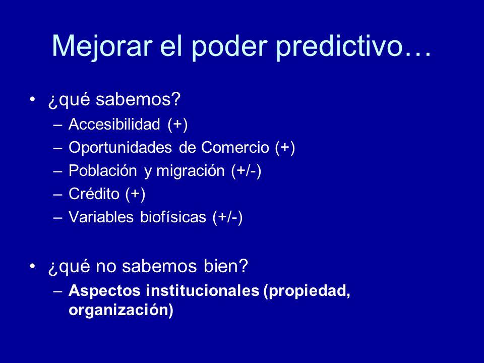 Mejorar el poder predictivo…