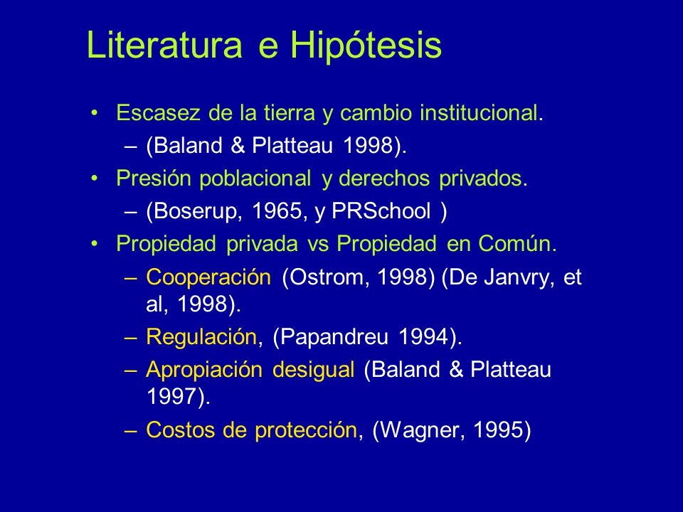 Literatura e Hipótesis
