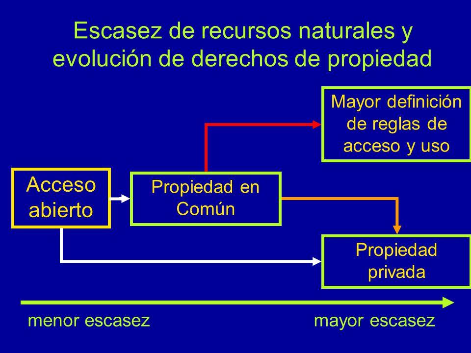 Escasez de recursos naturales y evolución de derechos de propiedad