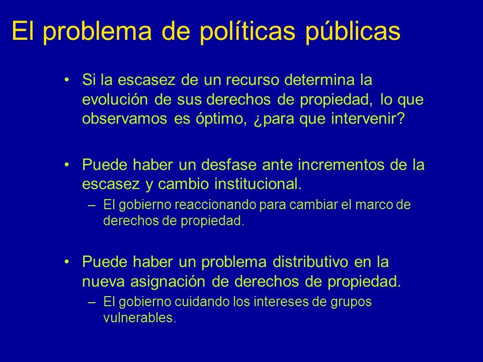 El problema de políticas públicas