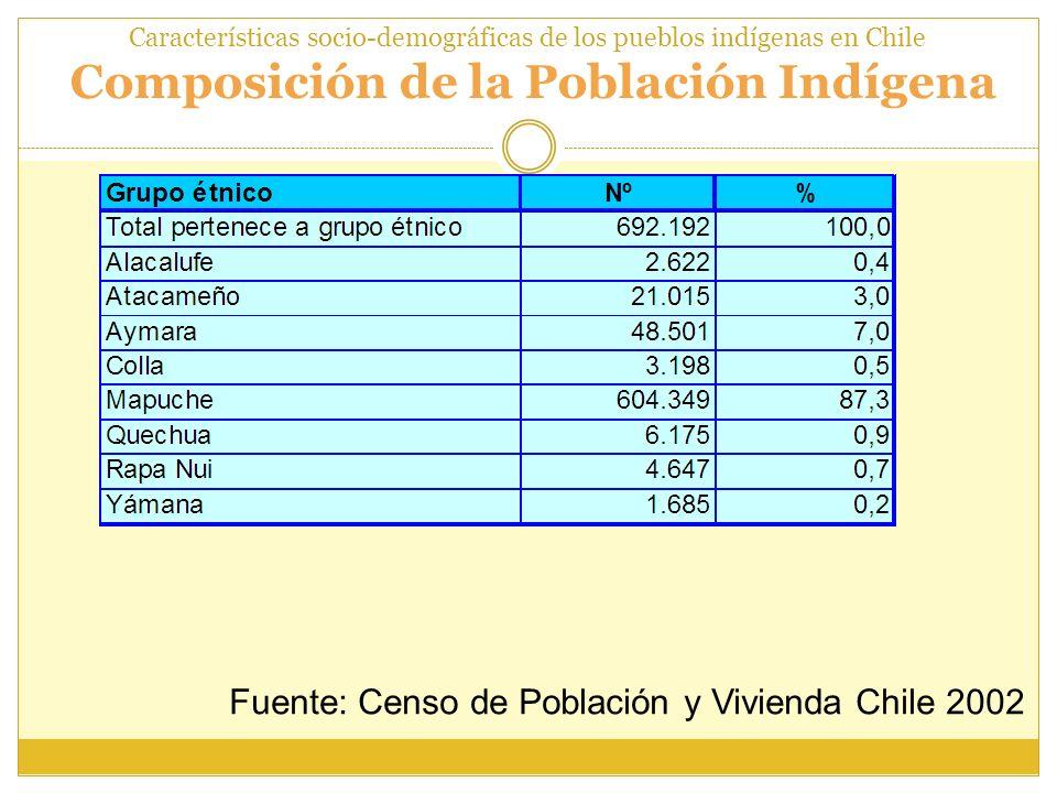 Fuente: Censo de Población y Vivienda Chile 2002
