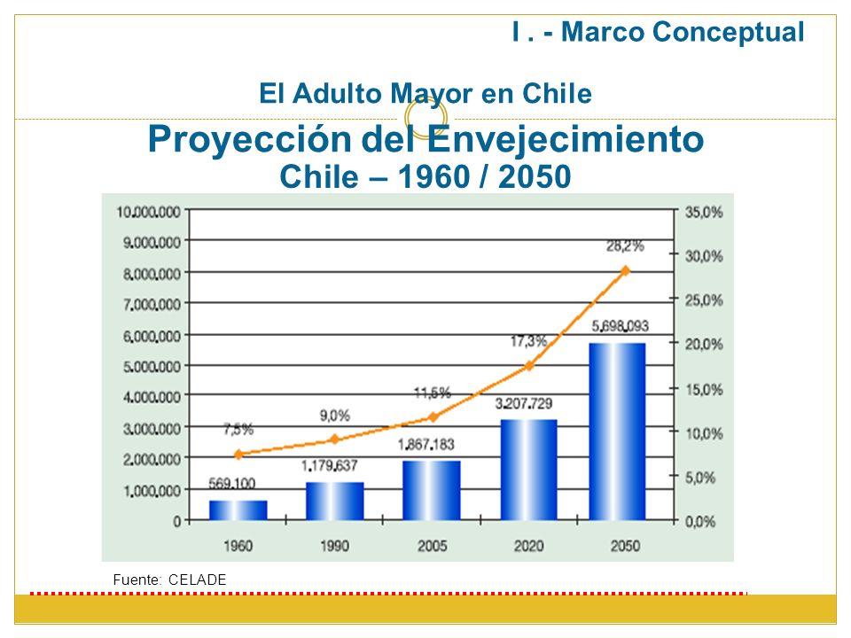 El Adulto Mayor en Chile Proyección del Envejecimiento