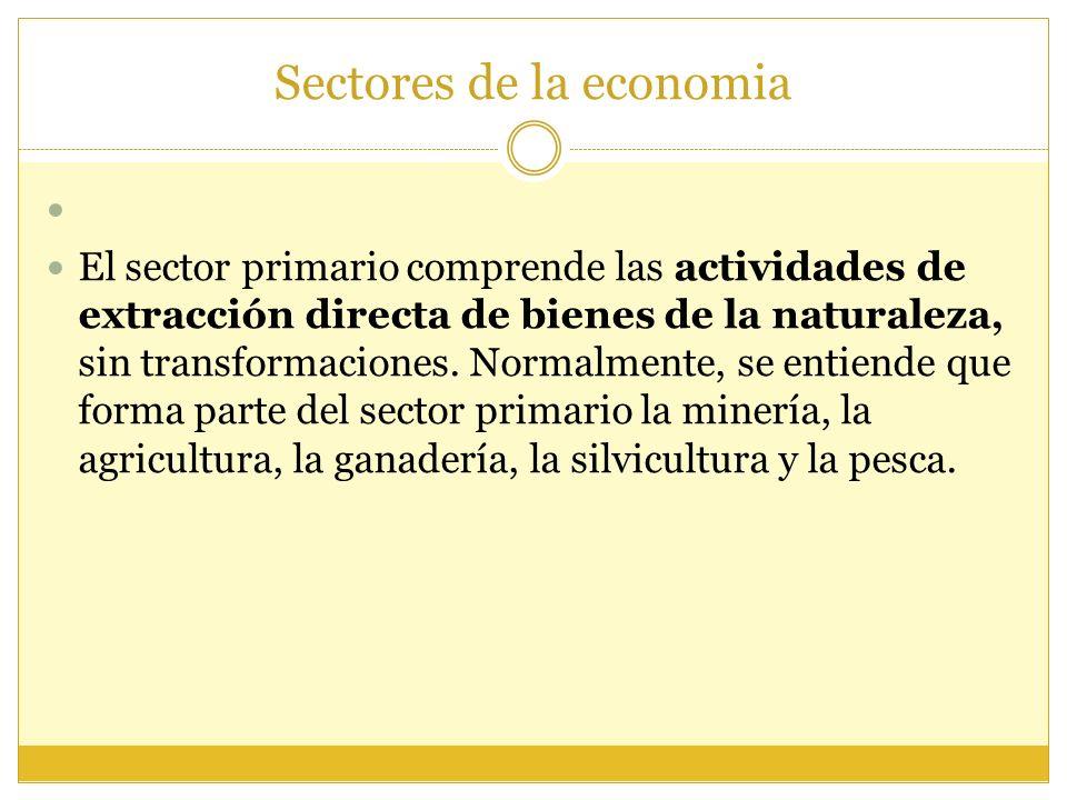 Sectores de la economia