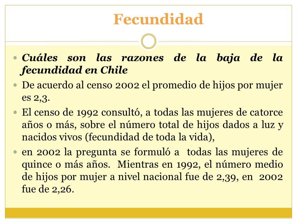 Fecundidad Cuáles son las razones de la baja de la fecundidad en Chile