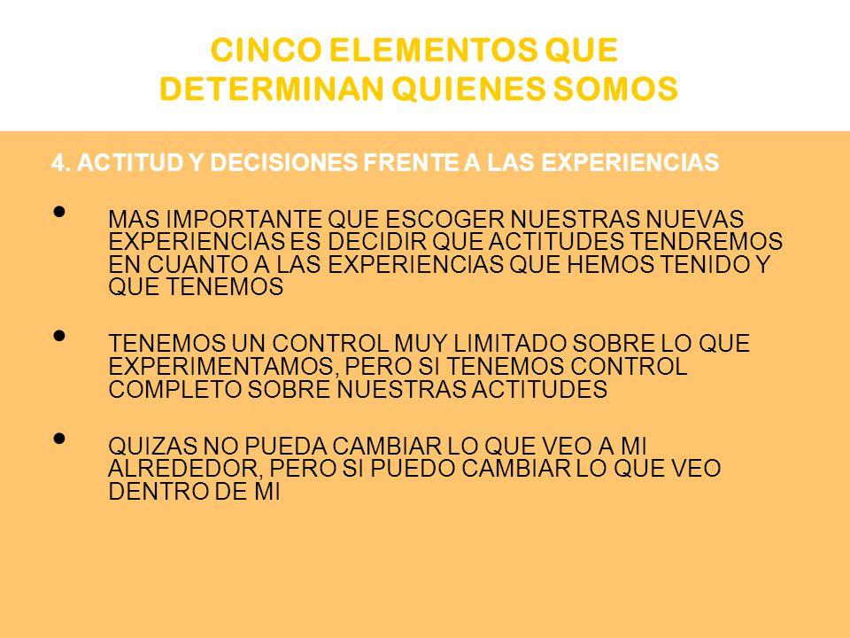 CINCO ELEMENTOS QUE DETERMINAN QUIENES SOMOS