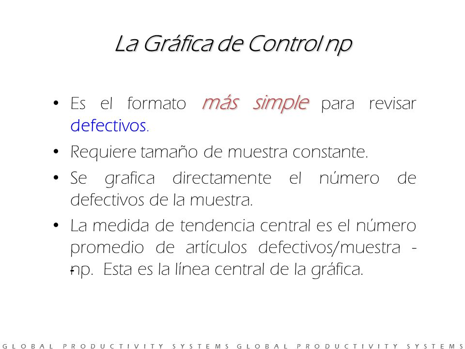 La Gráfica de Control np
