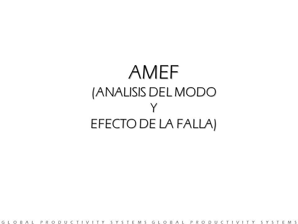 AMEF (ANALISIS DEL MODO Y EFECTO DE LA FALLA)