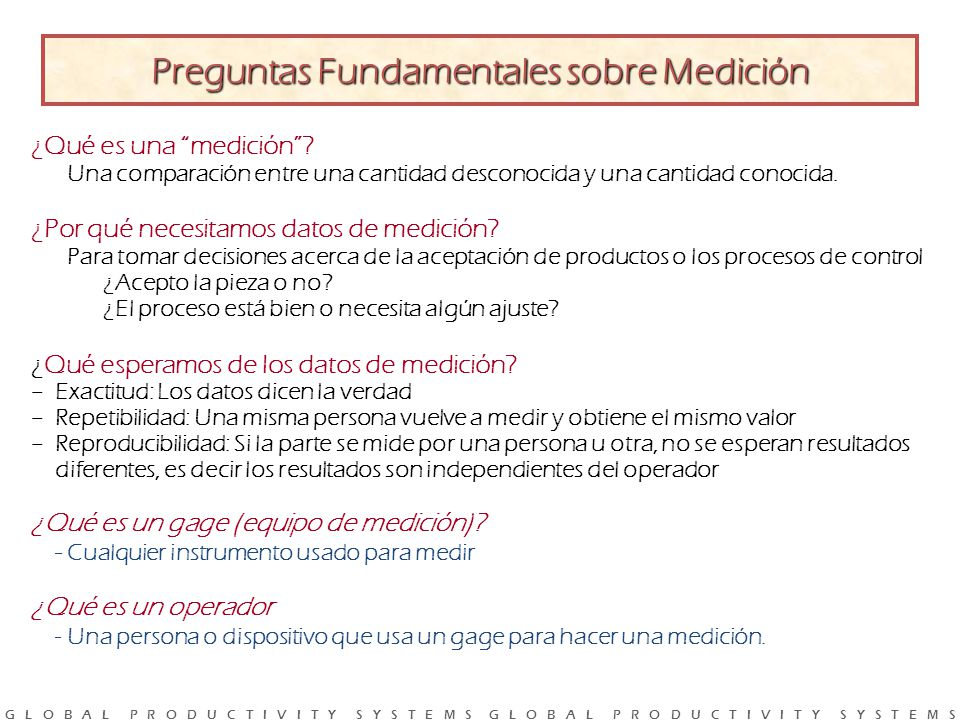 Preguntas Fundamentales sobre Medición