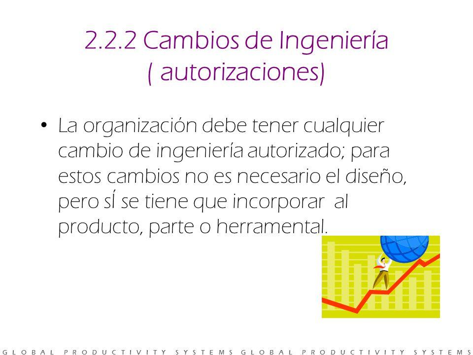 2.2.2 Cambios de Ingeniería ( autorizaciones)