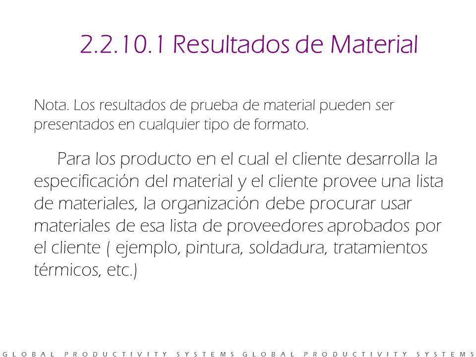 2.2.10.1 Resultados de Material