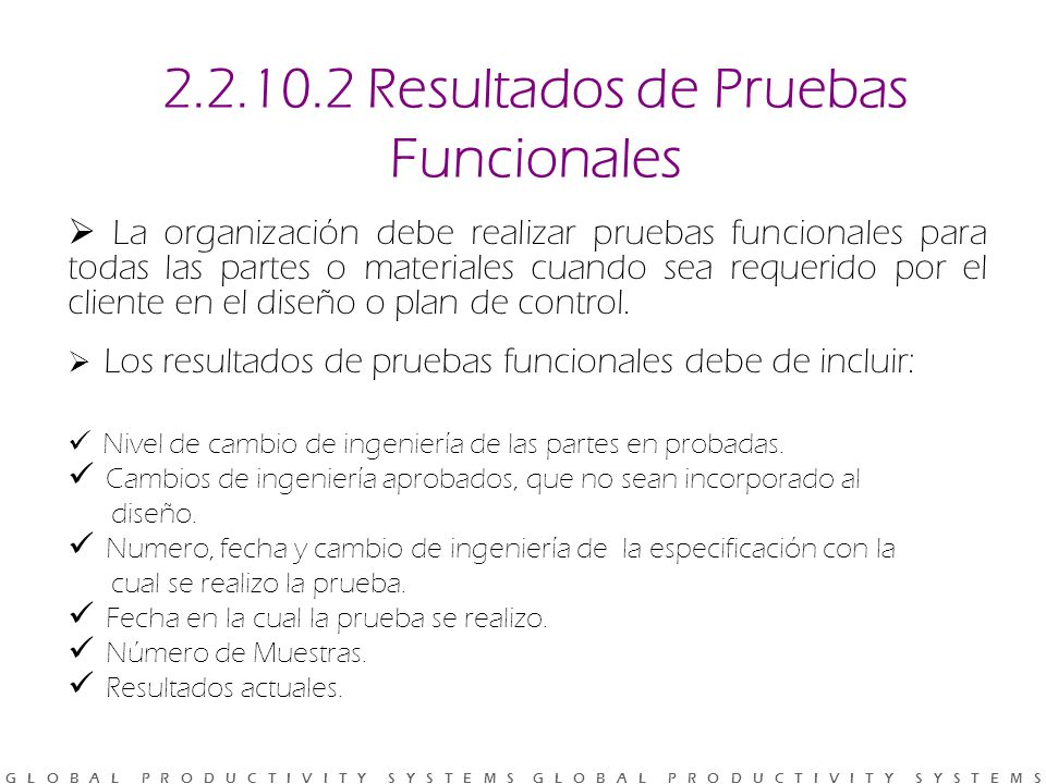 2.2.10.2 Resultados de Pruebas Funcionales
