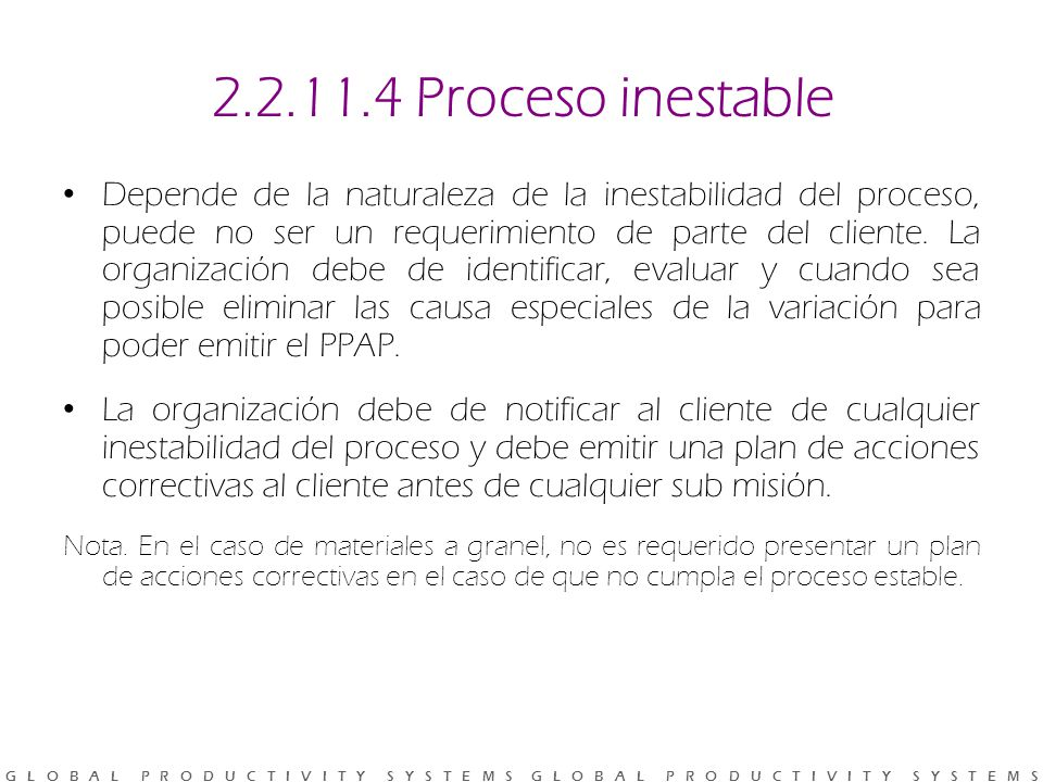 2.2.11.4 Proceso inestable