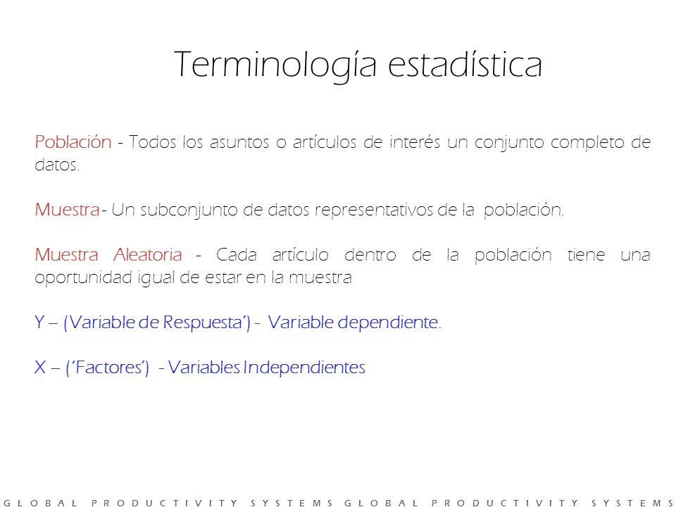 Terminología estadística