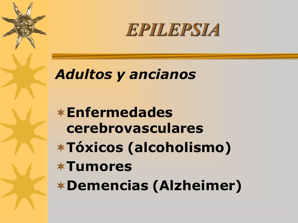 EPILEPSIA Adultos y ancianos Enfermedades cerebrovasculares