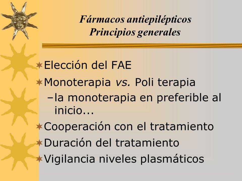 Fármacos antiepilépticos Principios generales