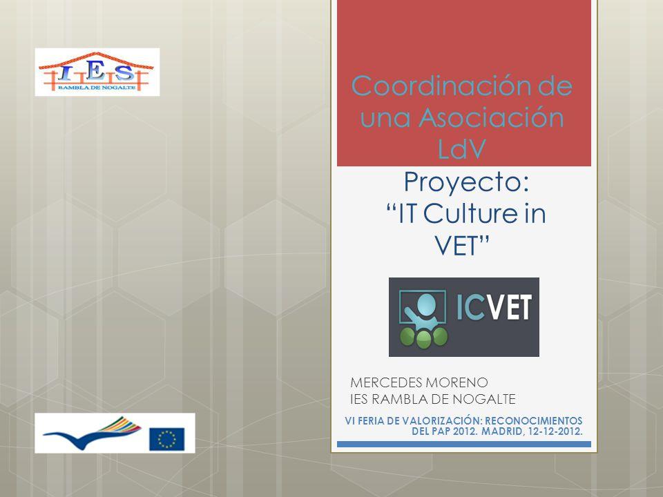 Coordinación de una Asociación LdV Proyecto: IT Culture in VET